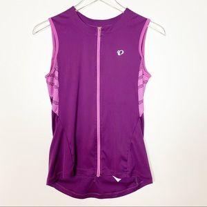 Pearl Izumi Purple Sleeveless Jersey Full Zip Med